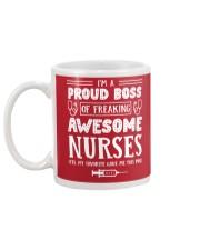 Proud Boss Of Awesome Nurses Mug back