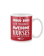 Proud Boss Of Awesome Nurses Funny Gift For Boss Mug front