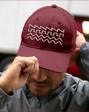Audio Waveform Embroidered Hat garment-embroidery-hat-lifestyle-01