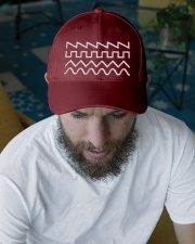 Audio Waveform Embroidered Hat garment-embroidery-hat-lifestyle-06