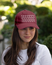 Audio Waveform Embroidered Hat garment-embroidery-hat-lifestyle-07