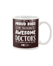 Proud Boss Of Awesome Doctors Mug tile