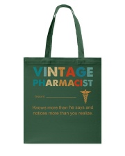 Vintage Pharmacist Knows More Than He Says Tote Bag thumbnail