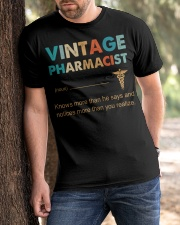 Vintage Pharmacist Knows More Than He Says Classic T-Shirt apparel-classic-tshirt-lifestyle-front-51