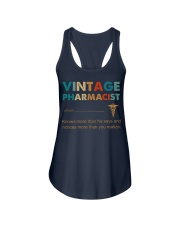 Vintage Pharmacist Knows More Than He Says Ladies Flowy Tank thumbnail