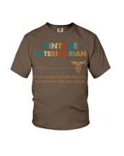 Vintage Veterinarian Knows More Than She Says Youth T-Shirt thumbnail