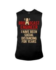 Broadcast Engineer Social Distancing Sleeveless Tee thumbnail
