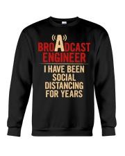 Broadcast Engineer Social Distancing Crewneck Sweatshirt thumbnail