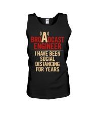 Broadcast Engineer Social Distancing Unisex Tank thumbnail