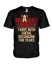 Broadcast Engineer Social Distancing V-Neck T-Shirt thumbnail