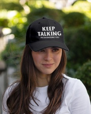 Keep Talking I'm Diagnosing You Doctor Psychology Embroidered Hat garment-embroidery-hat-lifestyle-07