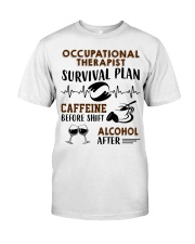 Occupational Therapist Survival Plan Caffeine  Premium Fit Mens Tee thumbnail