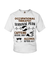 Occupational Therapist Survival Plan Caffeine  Youth T-Shirt thumbnail