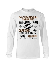 Occupational Therapist Survival Plan Caffeine  Long Sleeve Tee thumbnail