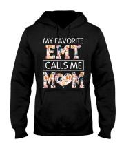EMT Calls Me Mom Hooded Sweatshirt front