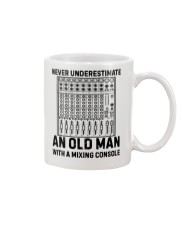 Never Underestimate An Old Man Mixing Console Mug thumbnail