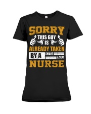 Sorry This Guy Taken By Nurse Premium Fit Ladies Tee thumbnail