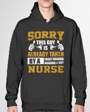 Sorry This Guy Taken By Nurse Hooded Sweatshirt garment-hooded-sweatshirt-front-04