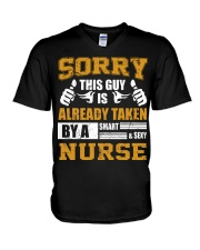 Sorry This Guy Taken By Nurse V-Neck T-Shirt thumbnail