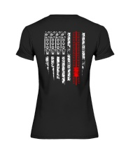 American Flag Audio Engineer Premium Fit Ladies Tee thumbnail