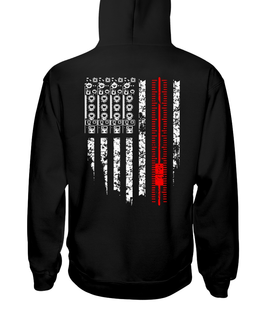 American Flag Audio Engineer Hooded Sweatshirt