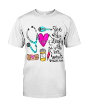 Doctor She Works Willingly With Her Hands Premium Fit Mens Tee thumbnail