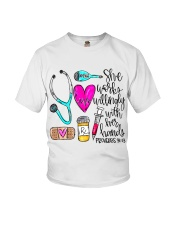 Doctor She Works Willingly With Her Hands Youth T-Shirt thumbnail