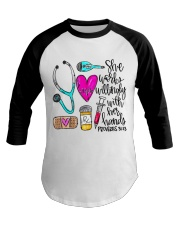 Doctor She Works Willingly With Her Hands Baseball Tee thumbnail