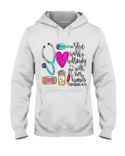 Doctor She Works Willingly With Her Hands Hooded Sweatshirt front