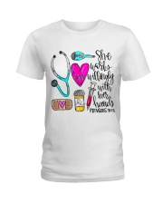 Doctor She Works Willingly With Her Hands Ladies T-Shirt thumbnail