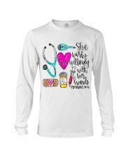 Doctor She Works Willingly With Her Hands Long Sleeve Tee thumbnail