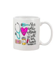 Doctor She Works Willingly With Her Hands Mug thumbnail