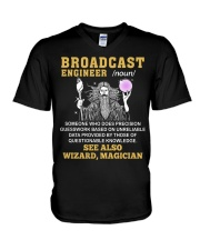 Broadcast Engineer See Also Wizard Magician V-Neck T-Shirt thumbnail