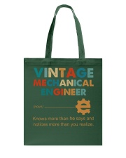 Vintage Mechanical Engineer Knows More Than He Tote Bag thumbnail