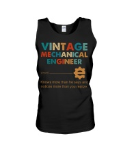Vintage Mechanical Engineer Knows More Than He Unisex Tank thumbnail