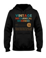 Vintage Mechanical Engineer Knows More Than He Hooded Sweatshirt front