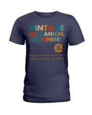 Vintage Mechanical Engineer Knows More Than He Ladies T-Shirt thumbnail