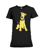 Funny Airedale Terrier Baby  Premium Fit Ladies Tee tile