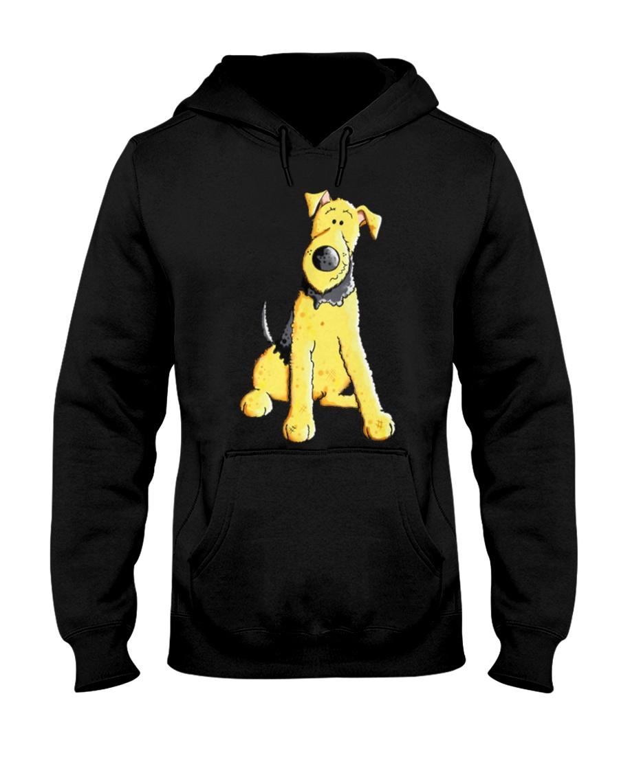 Funny Airedale Terrier Baby  Hooded Sweatshirt