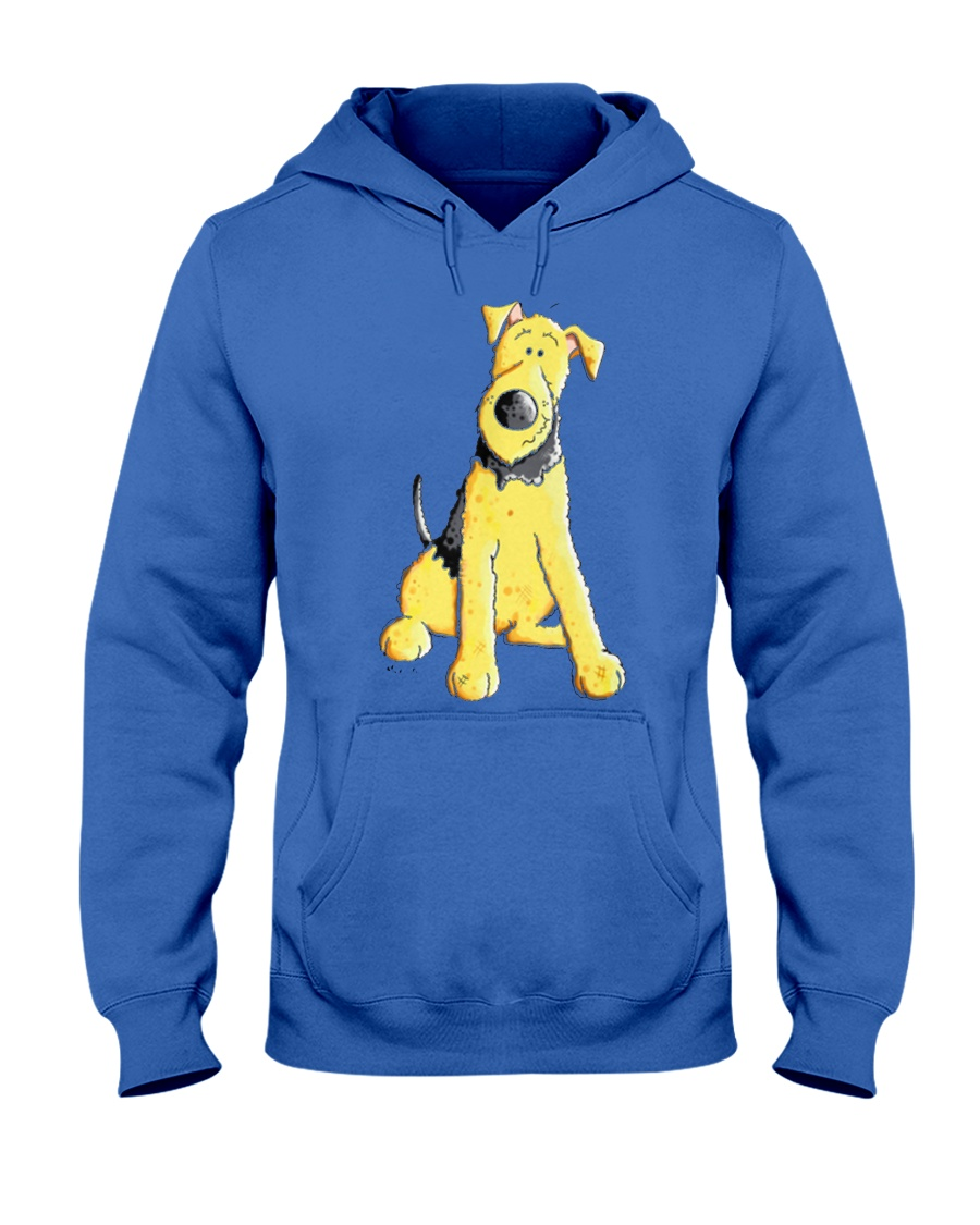 Funny Airedale Terrier Baby  Hooded Sweatshirt