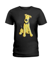 Funny Airedale Terrier Baby  Ladies T-Shirt tile