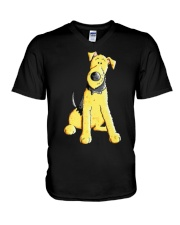 Funny Airedale Terrier Baby  V-Neck T-Shirt thumbnail