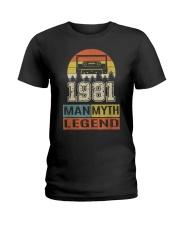 Vintage Man Myth Legend 1981 Ladies T-Shirt thumbnail