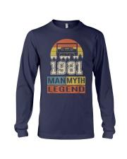 Vintage Man Myth Legend 1981 Long Sleeve Tee front