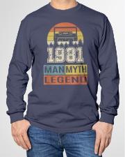 Vintage Man Myth Legend 1981 Long Sleeve Tee garment-tshirt-longsleeve-front-01