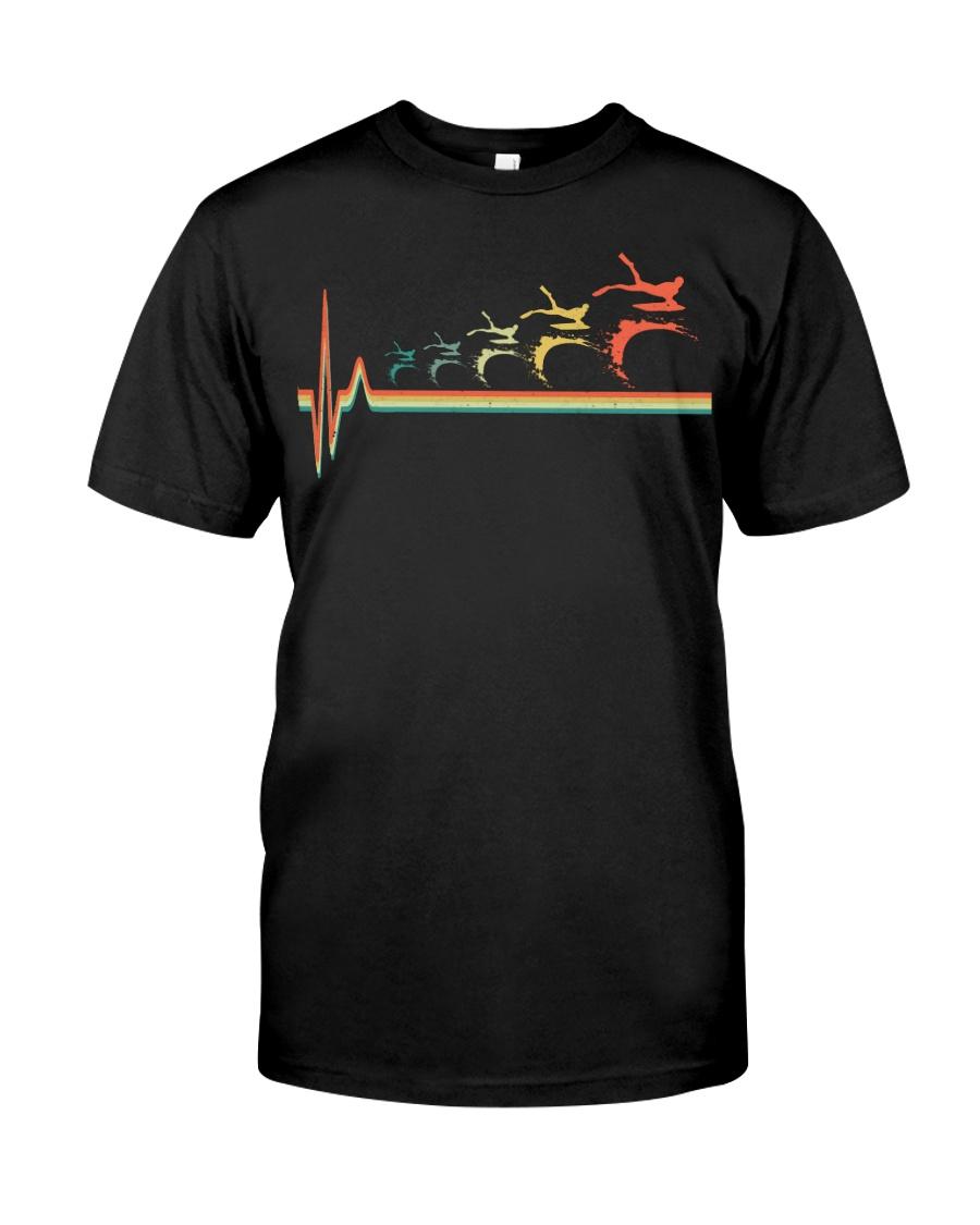RETRO BODYBOARDING HEARTBEAT Classic T-Shirt