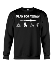 PLAN FOR TODAY PAINTBALL Crewneck Sweatshirt thumbnail
