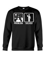 PROBLEM SOLVED PAINTBALLING Crewneck Sweatshirt thumbnail