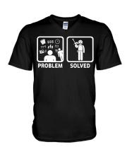 PROBLEM SOLVED PAINTBALLING V-Neck T-Shirt thumbnail