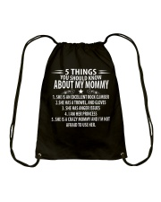 5 THINGS YOU SHOULD KNOW ABOUT MY MOMMY ROCKCLIMB Drawstring Bag thumbnail